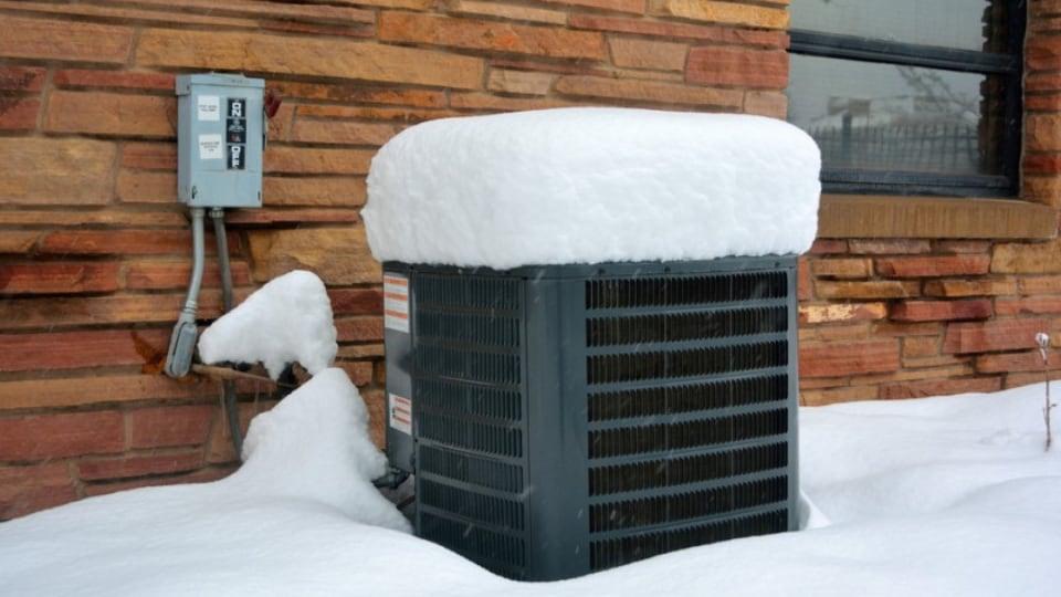 winter snow on hvac unit tuscaloosa